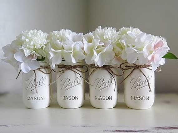 Baby shower decorations mason jar centerpieces rustic home like this item junglespirit Gallery