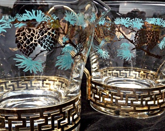 Mid Century Creamer/Sugar Bowl, Vintage Glass Creamer/Sugar Bowl, Retro Creamer/Sugar Bowl, Retro Kitchen