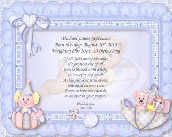 Personalized New Baby Boy Gift