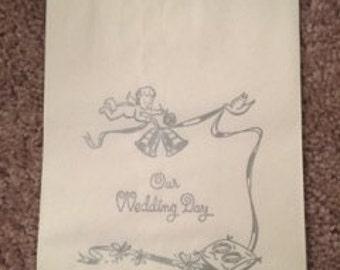 Set of 45 Vintage Paper Wedding Snack Bags