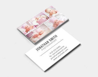 Business Card Template - Photographer Business Card - Photoshop Templates BC004