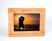 Always & Forever Custom Engraved Picture Frame - Birch Wood
