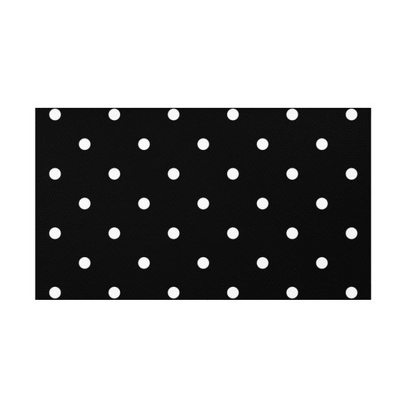 Polka Dots Pattern Rug 2 Colors Options Black And White