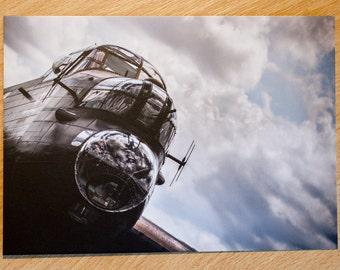 Postcard, Avro, Lancaster, Bomber, Vintage, Aircraft, Plane, Aviation, Photo, Photography, Print, PA474