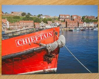 Whitby, Postcard, Photo, Print, England, Seaside, Beach, Photograph, North, Yorkshire, River Esk,
