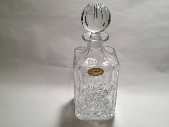 Vintage Polish 24% Lead Crystal Decanter From The 1970's