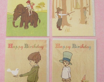 Boys Birthday Cards set of 4 by Belle & Boo