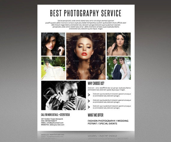 Photography flyer template Professional Photographer
