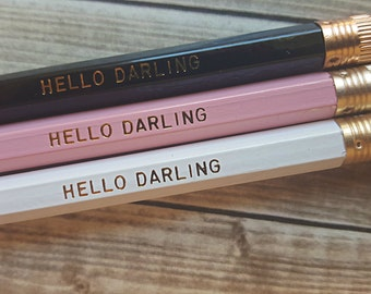 HELLO DARLING Pencil Set