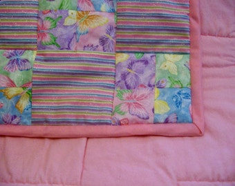 Sparkle Butterfly Baby Quilt