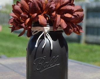 Decorative Mason Jar, Mason Jar, Matte colored Mason Jar, Matte FInish, Jar, Decoration, Flower holder