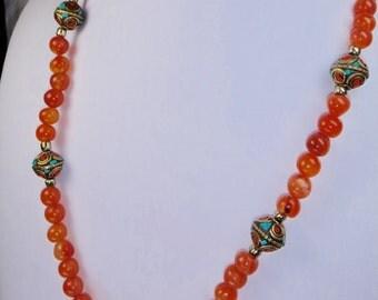 Burnished Orange Aventurine Necklace