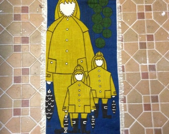 Vintage Liv Hassel Textile - Family Fishing