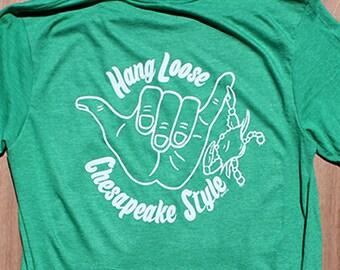 Hang Loose Shirt | Chesapeake Shirt | Shaka Shirt | Hang Loose Chesapeake Style
