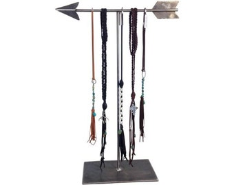 Arrow necklace display- Raw Steel, extra large necklace display, necklace holder, boho necklace display, store fixture, craft show display