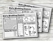 Wedding Kids Activity Sheet - INSTANT DOWNLOAD