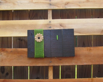 Black Reclaimed Wood Picture Frame