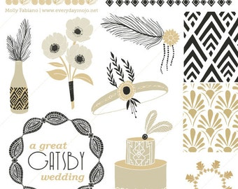 CLIP ART - A Great Gatsby Roaring 20s Wedding
