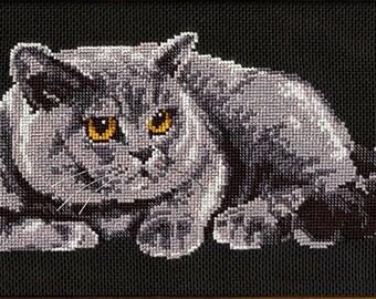 Cross Stitch Kit by Riolis - Briton Cat