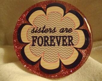 magnet,sister decor, refrig magnet, resin, sisters resin magnet, sister magnet gift, refrigerator magnet, pink magnet, sister gift (166)