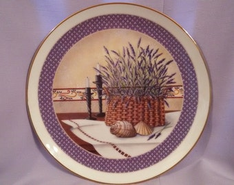 """8 1/4"""" Basket of Lavender China Plate On sale, was 20.00"""