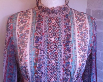 1970s Bohemian Paisley Maxi Dress