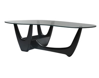 Adrian Pearsall Black Kidney Shaped Coffee Table