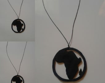 black Africa circle necklace