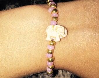 Elephant Beaded Stretch Bracelet