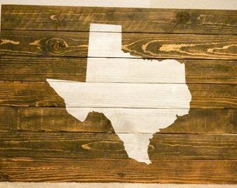 Texas Wood Wall Art