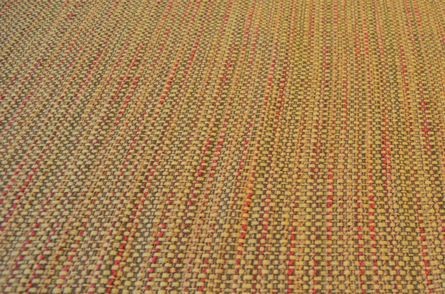 Tweed Style Upholstery Fabric - Heavy Weight - Cream Red Brown ...