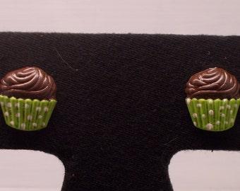 Chocolate Cupcake Post Earrings