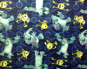 Discontinued Disney Monsters Inc.Toss Fabric