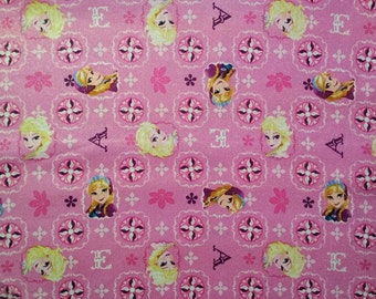 Disney Frozen Pink with Glitter Fabric