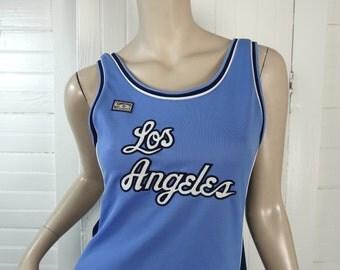 Basketball Jersey Mini Dress- 90s LA Lakers- 1990s Club- Blue- Los Angeles