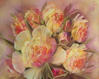 Painting with peonies is made to order