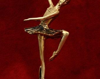 Bronze Dancing Ballerina with Clock