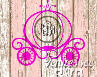 Princess Carriage SVG, Cinderella Carriage SVG, instant download PNG