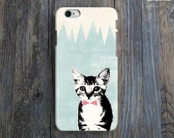 SHY KITTEN iPhone 6 Case. Cat iPhone 6 Case. Cute iPhone Case. Kawaii iPhone 6 Plus Case. Lovely iPhone 6 Case. Art iPhone Cover.