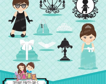 Tiffany Party Girls, Birthday, Clipart, Gabz