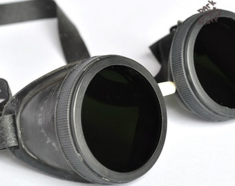 steampunk goggles  Vintage cyber goggles Time Travel Crazy old steampunk goggles Industrial Cyberpunk Steampunk MADE IN USSR 1970s