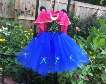 Princess tutu dress. Comes with hairpiece. Black and blue tutu dress. Birthday tutu dress