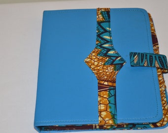 """African Print & Leather Tablet/ iPad cases - """"Ibrahim"""" Collection"""