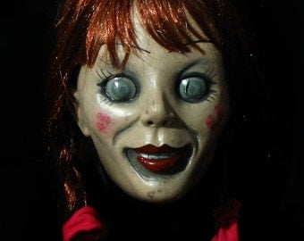 Annabelle Evil Doll Deluxe Latex Mask The Conjuring Scary!!