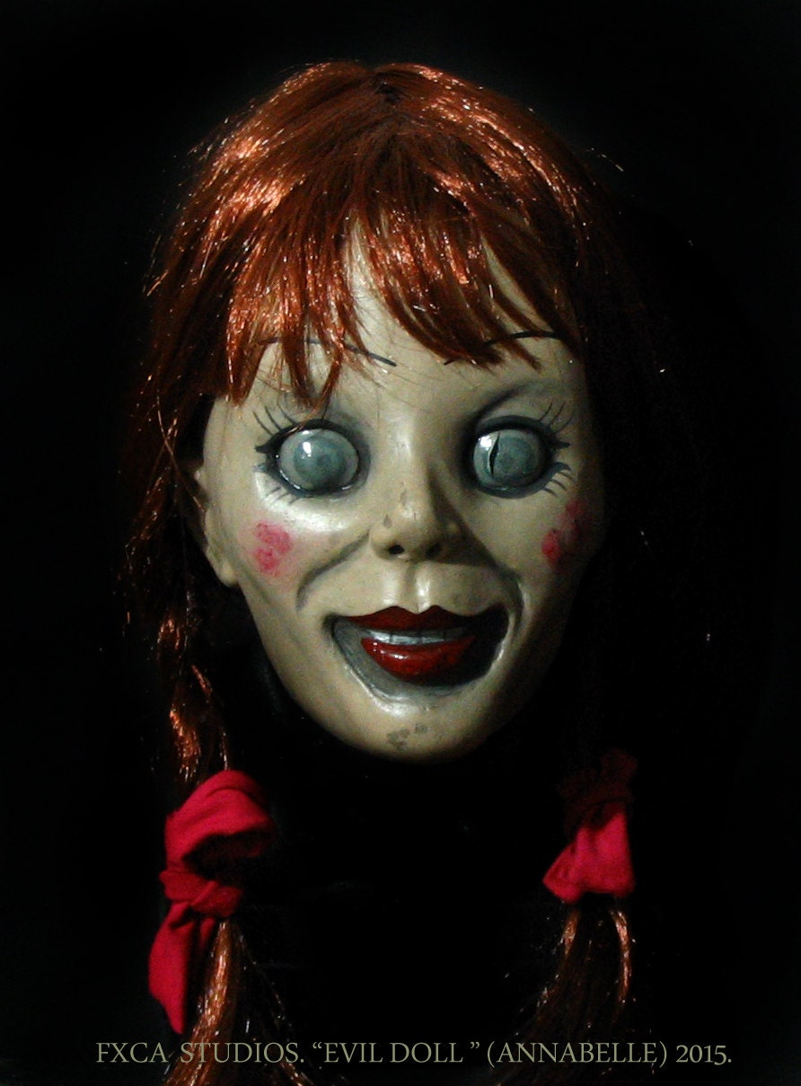 Annabelle Evil Doll Deluxe Latex Mask The Conjuring Scary