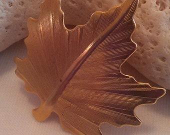 Maple Leaf Vintage Ladies Pin