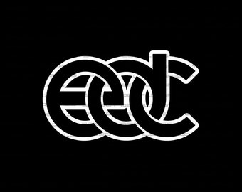 Electric Diasy Carnival EDC Car Wall Decor Decal in White