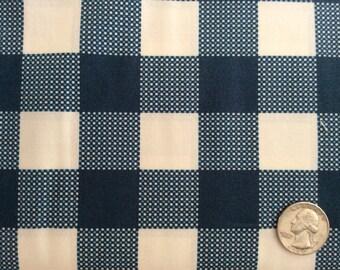 Folk Plaid Fabric by Art Gallery Fabrics AGF Navy