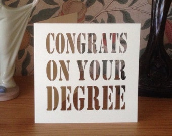 Papercut - Congrats On Your .......   Degree / First  / 2 : 1 Card