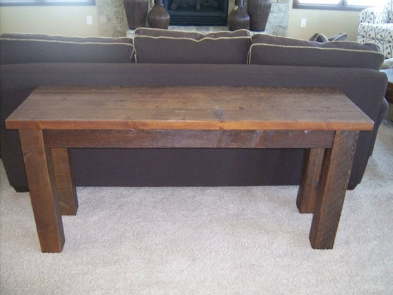 Rustic behind the Sofa Table